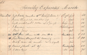 partial-page-listing-of-items-purchased-by-the-sill-family-and-amounts-paid