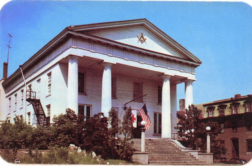 Mid-20th-enctury-picture-of-greek-revival-style-masonic-temple