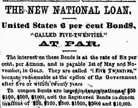 Newspaper ad for 6% bonds