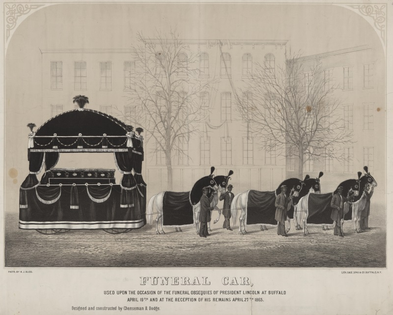 The carriage used during the reception of Abraham Lincoln's remains in Buffalo. Image courtesy Library of Congress.