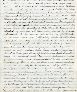 A Seneca Castle miller writes about Abraham Lincoln's assassination.