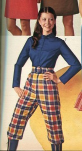 Image from a catalog of young woman wearing pants.