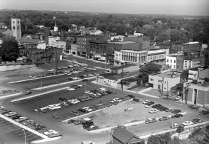 Photograph of Seneca and Exchange Streets after urban renewal