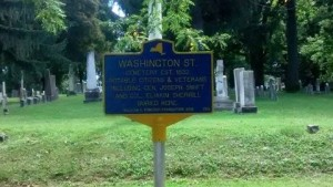 Washington St. Cemtery Marker
