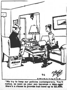 Cartoon from the Geneva Times dated September 6, 1968.