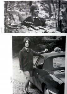 Page from the William Smith 1968 yearbook. Contains two black and white of images of female students.