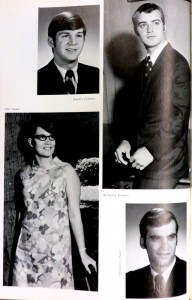 Black and white images of one William Smith and three Hobart Seniors from the 1969 yearbook.