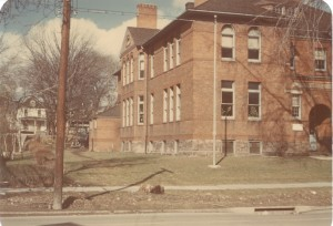 Colored photo of Lewis Street School