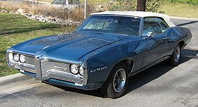 Colored image of a blue Pontiac-LeMans