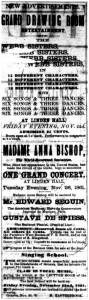 Music ad from 1861 newspaper