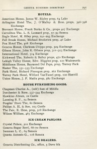 Page from the 1905 City Directory