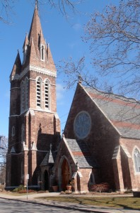Colored photography of St. Peter's Episcopal Church, 149 Genesee Stree