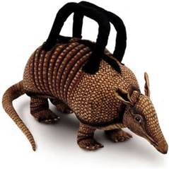 Colored photo of a Armadillo purse