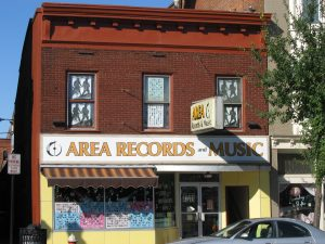 Colored photo of Area Records on Seneca Steet