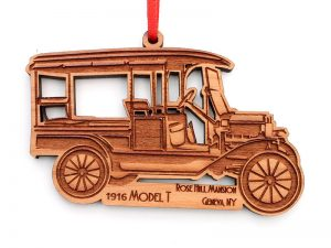Wooden ornament of a 1916 Model T