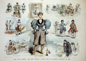 caricatures-of-women-riding-bicycles-in-the-1890s-text:the-new-woman-and-her-bicycle-there-will-be-several-varieties-of-her