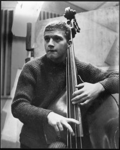man playing a bass