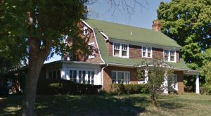 Dutch colonial revival home