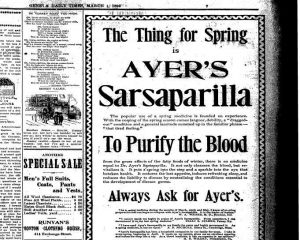 Ad for medicine with sarsaparilla