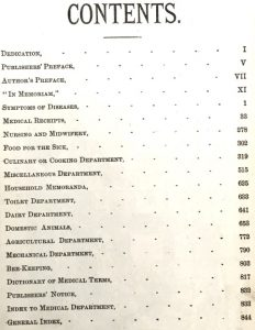 Table of contents of Dr. Chase's Third, Last and Complete Receipt Book and Household Physician