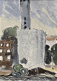 painting of flour mill