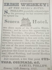 newspaper clipping about the Seneca Hotel