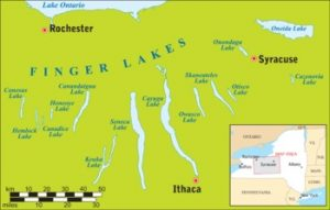 Map of the Finger Lakes