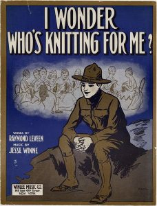 "Sheet music for the song ""I wonder who's knitting for me?"""