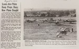 newspaper clipping about ScenicAire Park