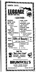 Newspaper ad for Brunskill's