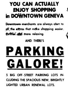 newspaper add for downtown parking