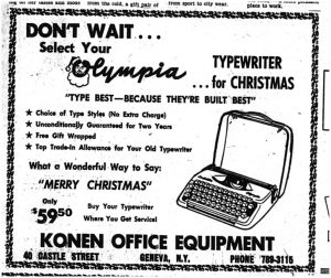 Konen Office Equipment Ad
