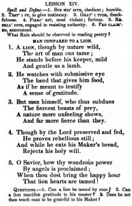 lion-lesson-from-1800s-reader
