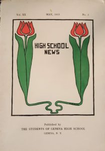 Cover to the May 1915 edition of the High School News