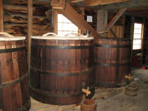 large-beer-barrels-with-taps
