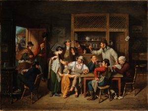 woman-and-child-with-men-in-a-tavern