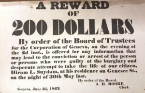 reward notice dated June 3, 1862