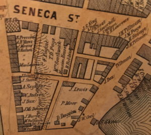 Map Of Seneca St 1856