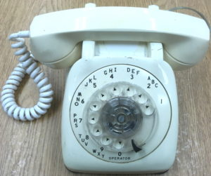 White Rotary Dial Telephone