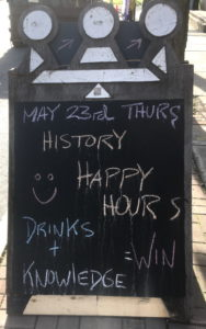 Chalk Board Sign Advertising History Event