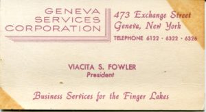 Business card for Geneva Services