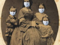 Margaret And Kids Masked