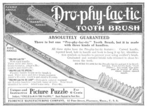 Prophylactic tooth brush ad