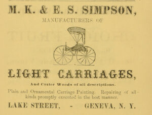 Ad for carriage makers MK & ES Simpson