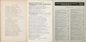 Three pages from different city directories