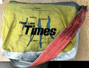 Yellow Newspaper Carrier Bag Finger Lakes Times
