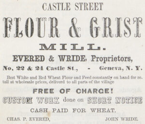 ad for flour and grist mill