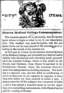 Newspaper articles about Elizabeth Blackwell's graduation
