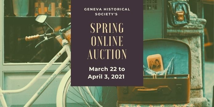 Ad for Spring 2021 online auction