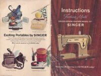Front and back cover to a 1968 Singer Zig Zag Sewing Machine